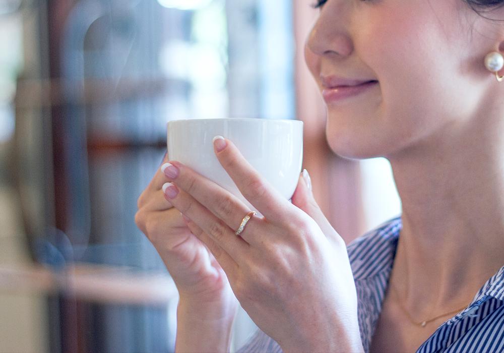 コーヒーの香りで癒される